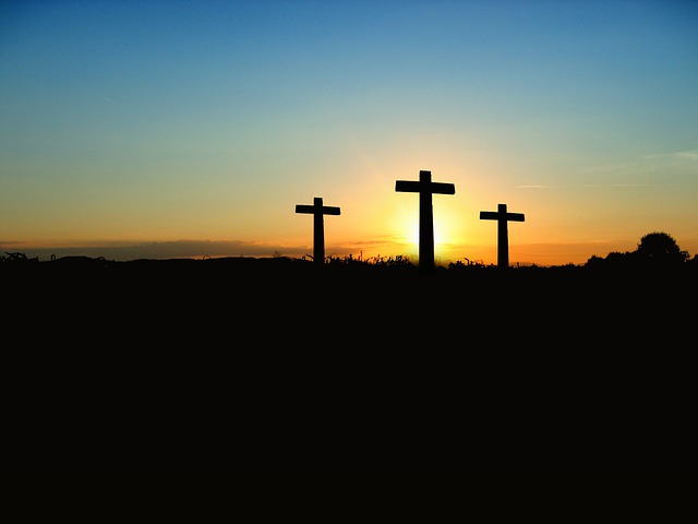 Cross, Sunset, Sunrise, Hill, Sky, Sun, Crucifixion