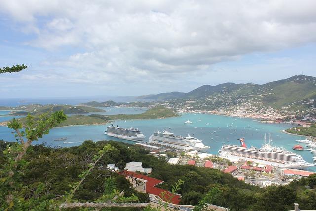 Virgin Islands, Cruise Ship, St Thomas, View, Holidays
