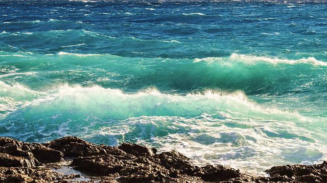 Rocky Coast, Waves, Crushing, Sea, Nature, Landscape