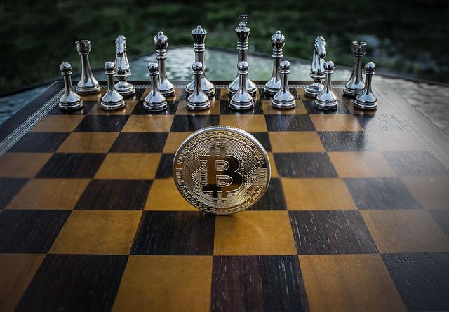 Cryptocurrency, Concept, Chess, Bitcoin, Blockchain