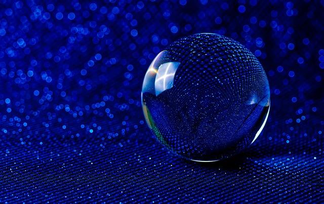 Crystal Ball-photography, Bokeh, Blue, Glitter, Ball