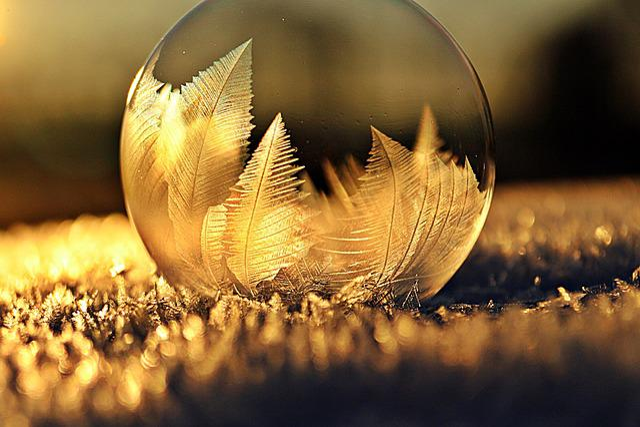 Frost Bubble, Ice Bubble, Soap Bubble, Crystal