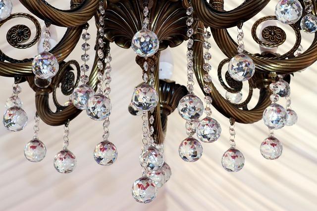 Chandelier, Crystal, Precious, Glass