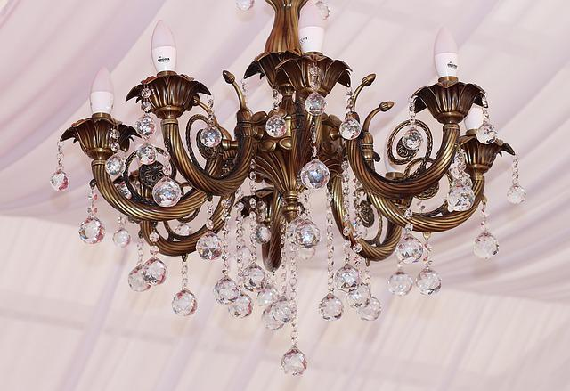 Chandelier, Crystal, Glass, Precious