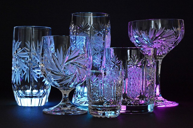 Crystal Glasses, Crystal, Glass, Illuminated