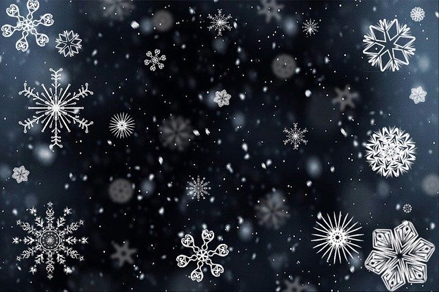 Snowflake, Snow, Snowing, Winter, Cold, Icy, Crystals