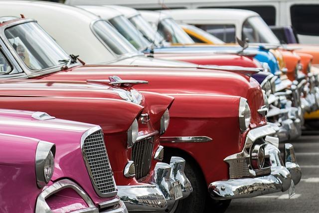 Cuba, Classic, Car, Rainbow Collection, Havana Vieja