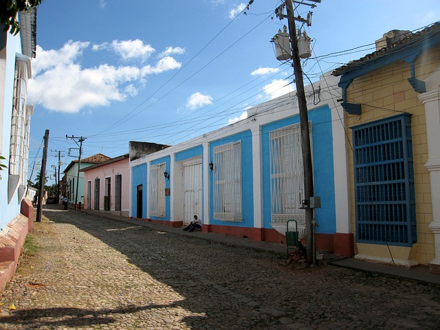 Cuba, Street, Trinidad, Colored Houses