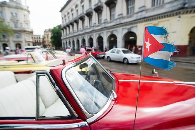 Car, Cuba, Flag, Old, Havana, Vintage, Retro, Travel