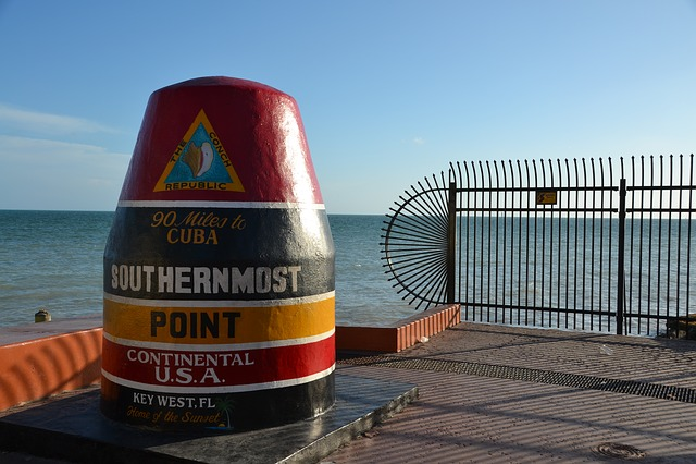Southermost Point, Key West, Cuba, Keys, Florida, Usa