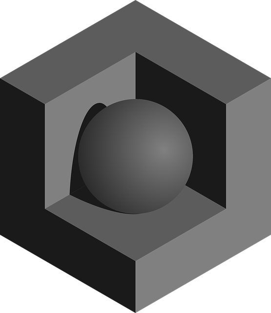 Sphere, 3d, Shadow, Recessed, Cube, Black, Gray