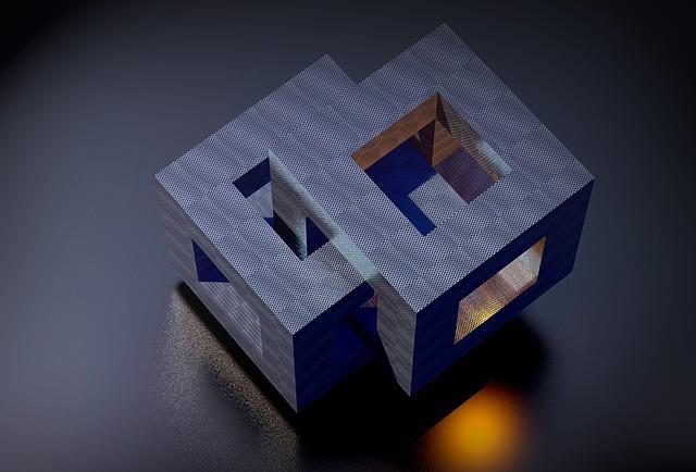 Cube, Block, Open, Geometry, Hollow Body, Space