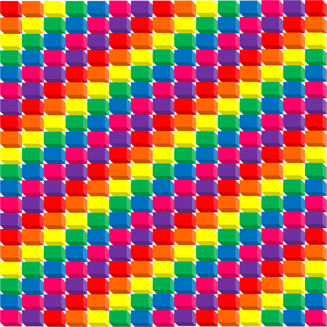 Rainbow, 3d, Cubes, Red, Orange, Yellow, Green, Blue