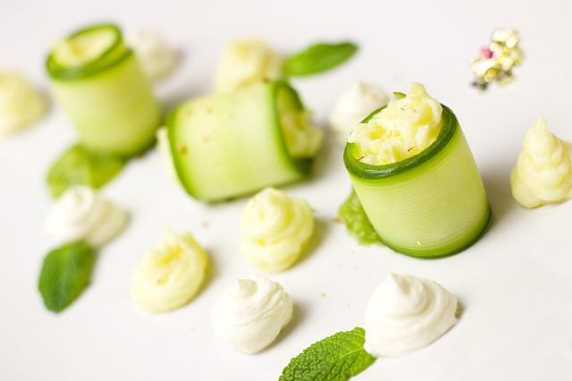 Cucumber, Starter, Menu, Festive, Noble, Green