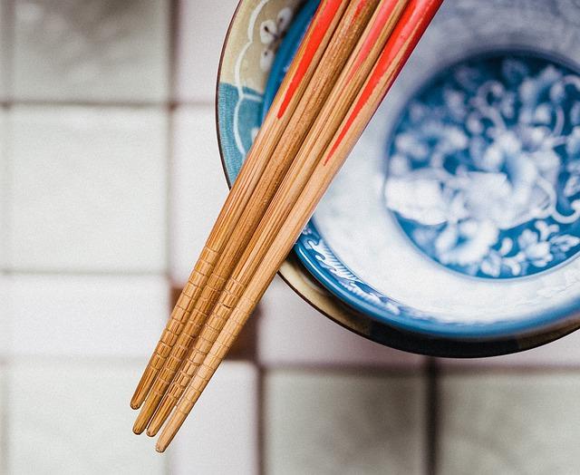 Chopsticks, Bowl, Bamboo, Cuisine, Asian, Chinese