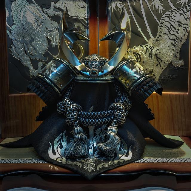Samurai Helmet, Japanese, Traditional, Culture