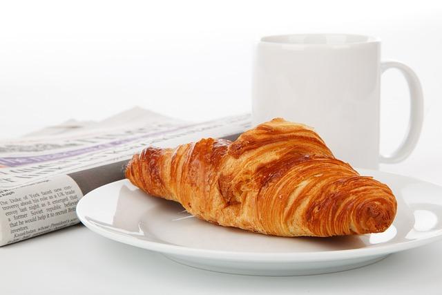 Bread, Croissant, Food, Breakfast, Cup, Mug, Drink