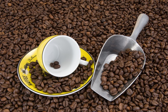 Coffee Beans, Coffee Cup, Cup, Cover, Coffee, Saucer