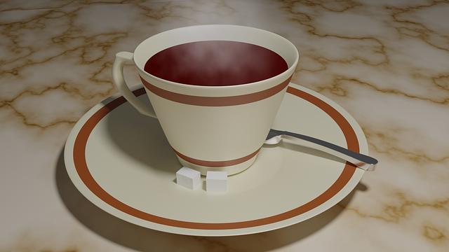 Drink, Tea, Cup, 3d