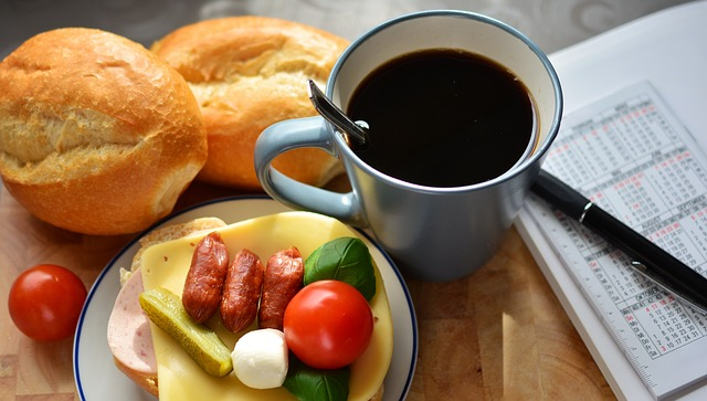 Breakfast, Snack, Sandwich, Cup Of Coffee
