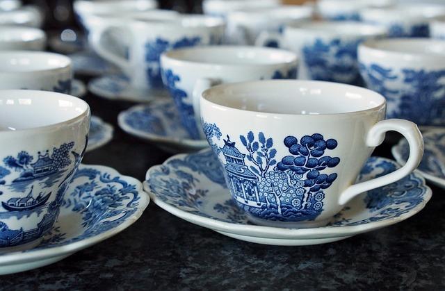 Tea, Cups, Teacup, White, Coffee, Cup Of Tea, Retro