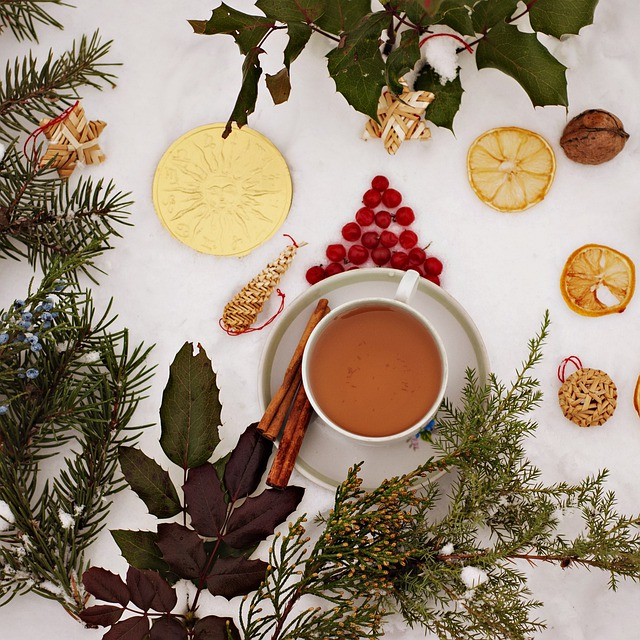 Christmas, Cup, Ornament, Winter, Background, Drink