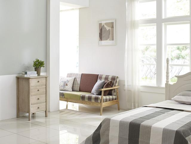Bedroom, Cupboard, Bed, Room, Sofa, Window, Living Room