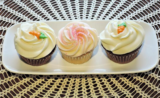 Cupcakes, Frosting, Carrot Cake, Sponge, Food, Dessert