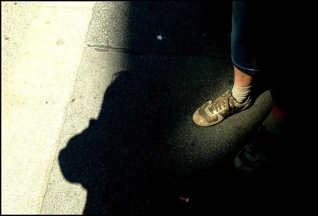 Foot, Leg, Feet, Sport Shoe, Legs, Curb, Sidewalk, Road