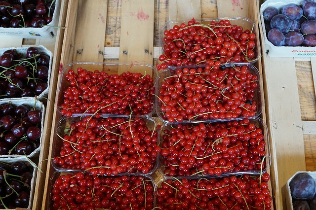 Currants, Red, Market