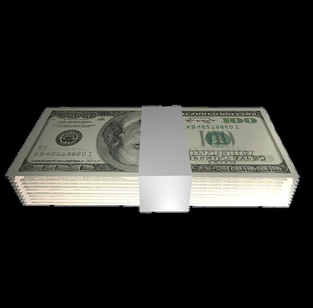 Dollar, Bundle, Banderole, Money, Currency, Png