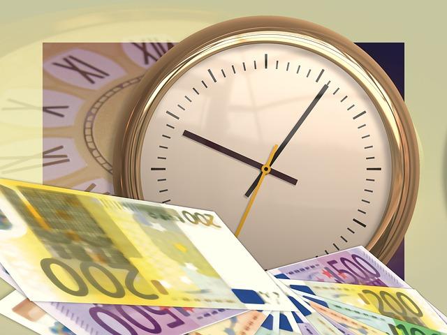 Clock, Time, Euro, Money, Currency, Dollar Bill, Bills