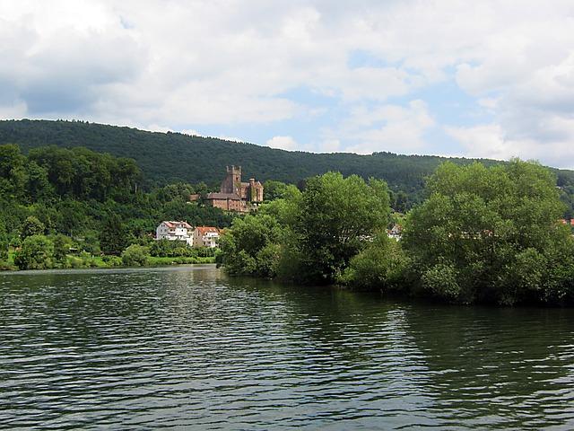 Neckar, Neckarsteinach, River, Current, Shipping