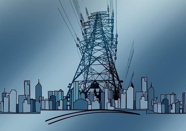 Current, Strommast, Mast, Skyline, Energy, Performance