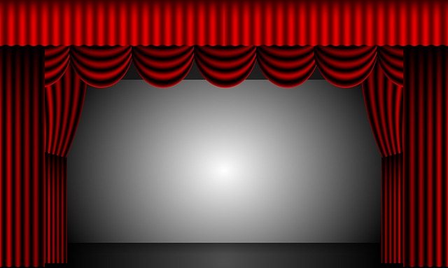 Theatre, Curtains, Stage, Drapes, Velvet, Red, Backdrop