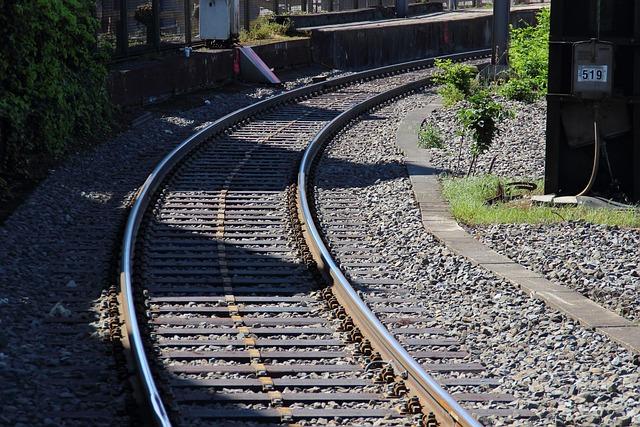 Railway, Rails, Railroad Tracks, Curve, Course, Train