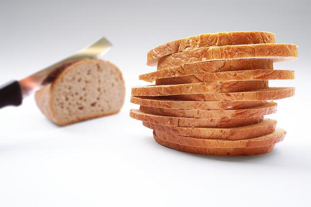 Bread, Slice Of Bread, Knife, Cut
