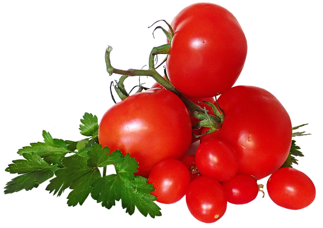 Tomatoes, Vegetables, Parsley, Cut Out, Isolated