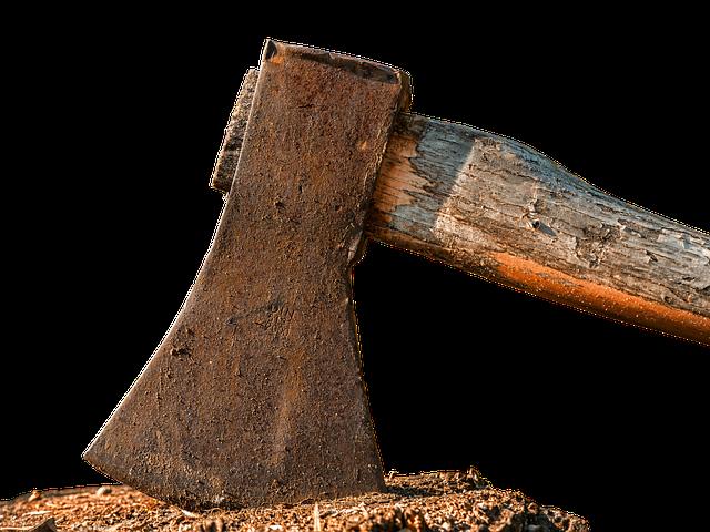Axe, Ax, Hauklotz, Wood Chop, Hack, Tool, Cut Weapon