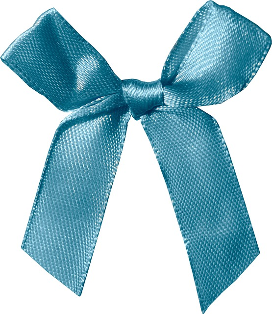 Bow Tie, Tape, Satin, Silk, Blue, Draft, Cut-out
