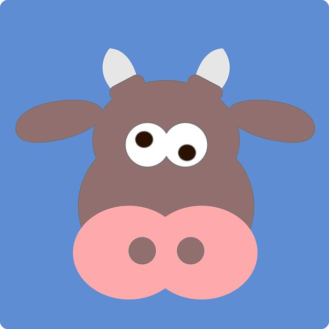 Cow, Crazy, Animal, Mammal, Funny, Silly, Cute, Farm