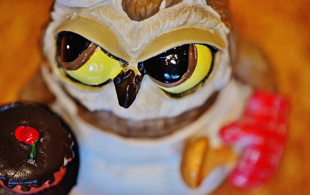 Owl, Bake, Baker, Cupcake, Cute, Funny, Sweet, Cake