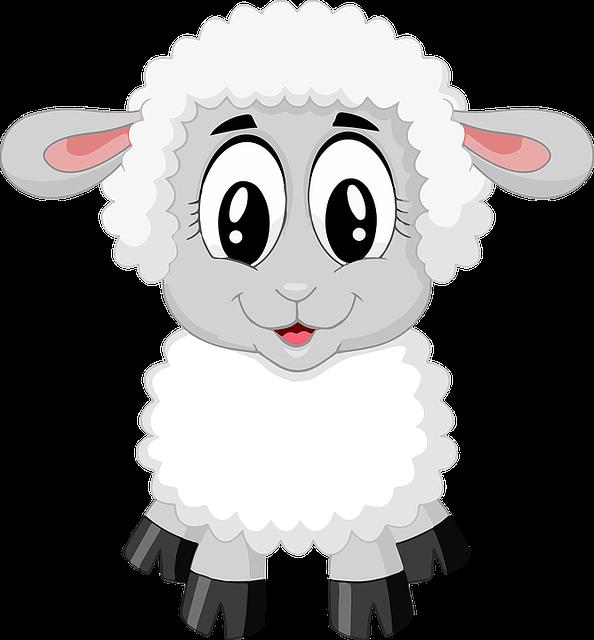 Lamb, Sheep, Cute, Farm, Animal, Baby, Cartoon