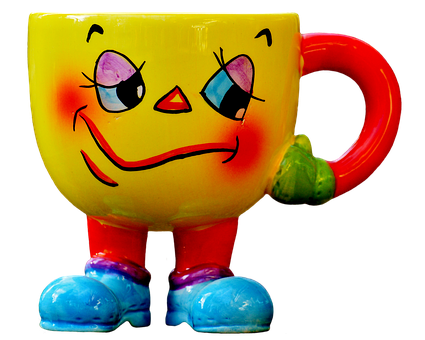 Cup, Funny, Smiley, Feet, Laugh, Emoticon, Cute