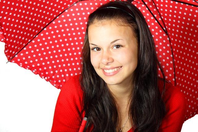 Color, Cute, Face, Female, Girl, Happy, People, Rain