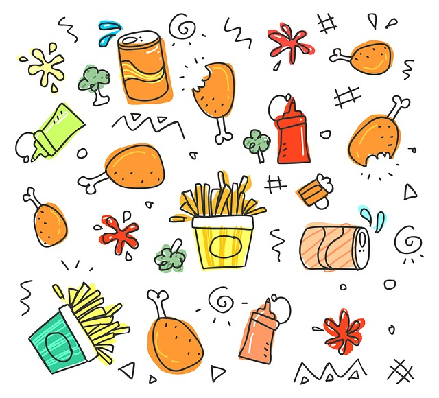 Cute, Sketch, Set, Child, Fun, Funny, Collection