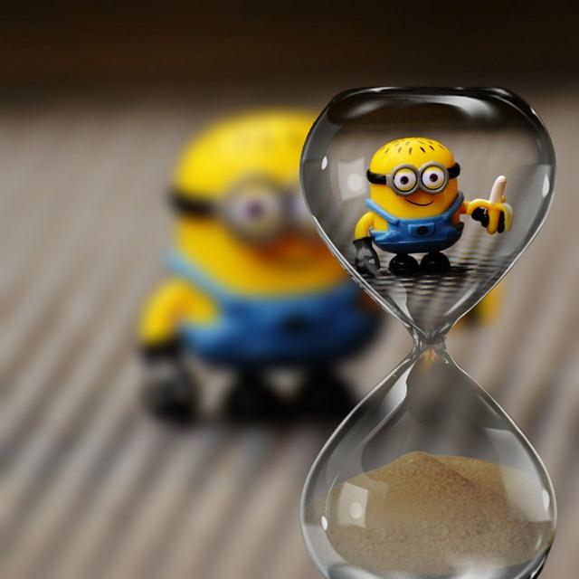 Minion, Funny, Toys, Children, Hourglass, Cute, Yellow