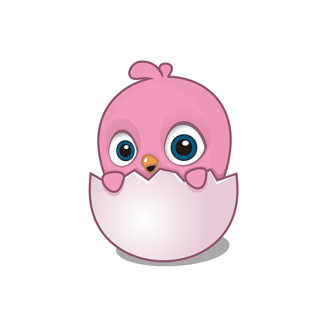 Egg, Little, Chick, Chicken, Cute, Funny, Pink, Mascot