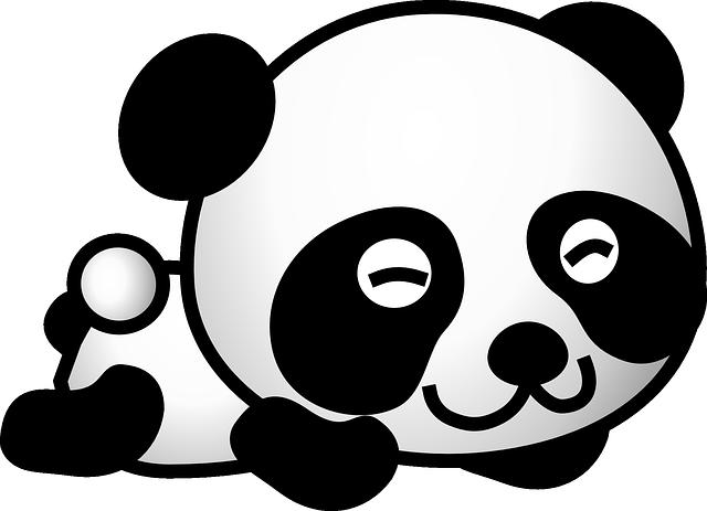 Panda, Bear, Cute, Happy, Young, Animal, Baby