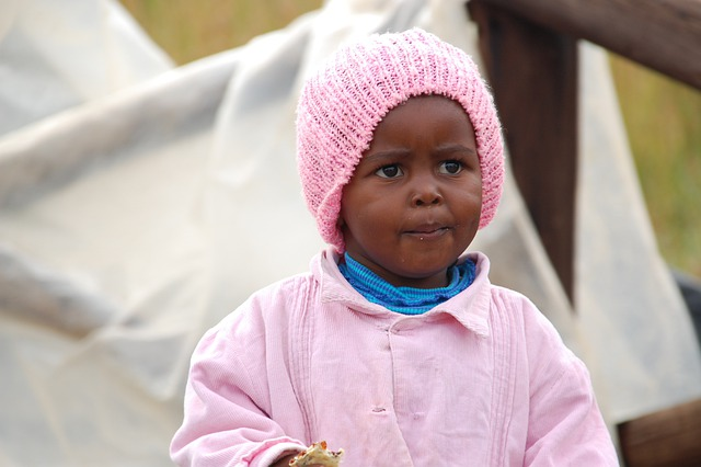 South Africa, Child, Girl, Cute, Pink, Portrait